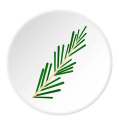green rosemary twig icon circle vector image