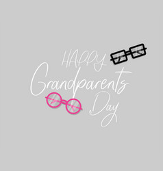 happy grandparents day cool banner or greeting vector image