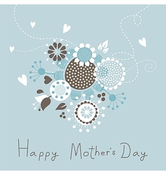 Happy Mothers Day With Bouquet vector image