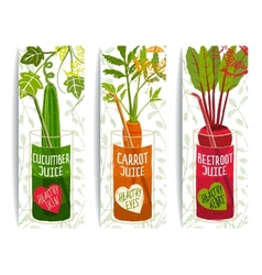 Healthy Vegetables Juices Design Collection on vector