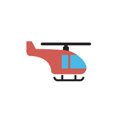 helicopter transportation icon design template vector image