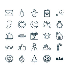 Holiday icons set collection of doughnut blank vector