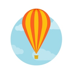 Hot air balloon flying vector