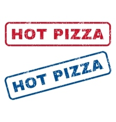 Hot Pizza Rubber Stamps vector