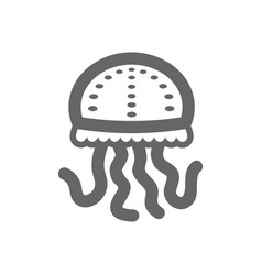 jellyfish outline icon summer vacation vector image