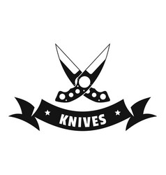 knive weapon logo simple black style vector image