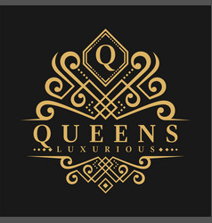 Letter q logo - classic luxurious style logo vector
