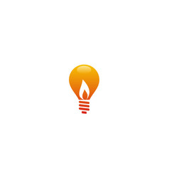 Light bulb energy flame logo vector