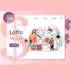 lotto website landing page design template vector image