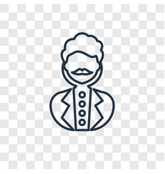 man concept linear icon isolated on transparent vector image