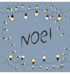 Merry Christmas card Noel vector