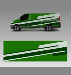 Modern simple design for van graphics vinyl wrap vector