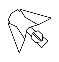 Paper aircraft launch route fly outline vector