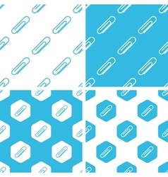 Paperclip patterns set vector
