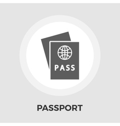 Passport Flat Icon vector image