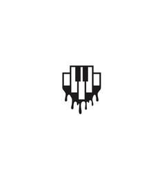 piano and juicy concept logo design concept vector image