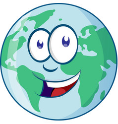 planet earth cartoon character vector image