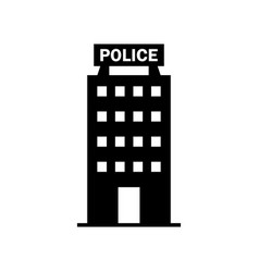 police station icon vector image