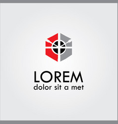 Polygon target logo vector