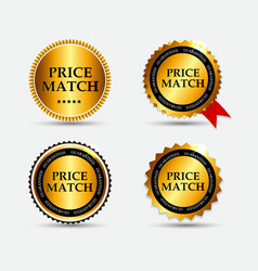 Price Match Label Set vector