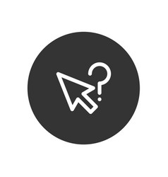 question mark cursor icon in modern style for web vector image