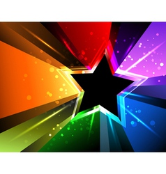 Rainbow Star vector image
