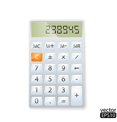 realistic electronic calculator vector image