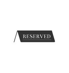 Reserved icon isolated flat design vector