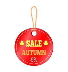 Sale autumn -5 sticker on vector