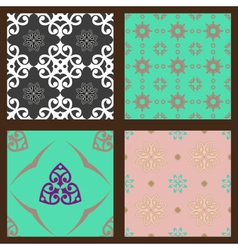 Set-2-seamless-colorful-patterns-oriental-ornament vector