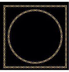 Set of vintage decorative frames vector image