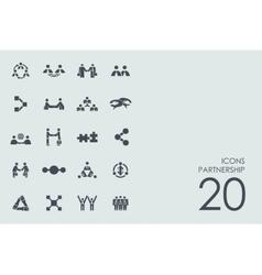 Set partnership icons vector