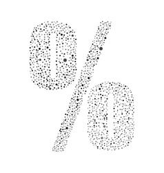 Sign percent logotype design vector