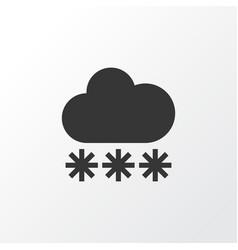 snow icon symbol premium quality isolated snowy vector image