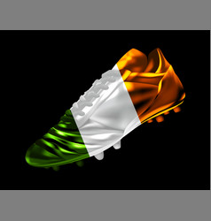 soccer football boot with the flag of ireland vector image