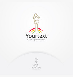 spirit torch logo design vector image