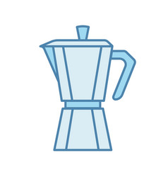 Stove top coffee maker color icon vector