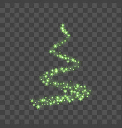 Stylized green christmas tree as symbol of happy vector