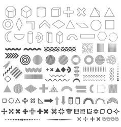 Trendy geometric shapes set 110 elements vector