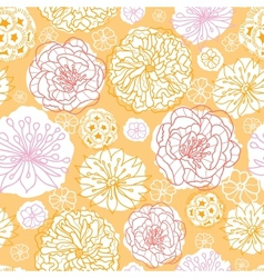 Warm day flowers seamless pattern background vector