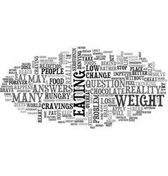 Why do we cheat on our diets text word cloud vector