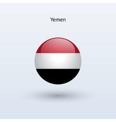 Yemen round flag vector image