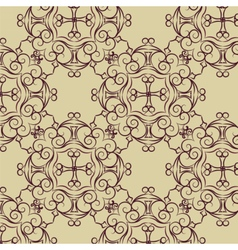 Abstract circular ornament pattern vector image vector image