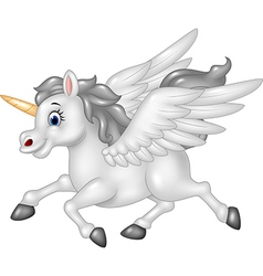 Cartoon Pegasus isolated on white background vector image vector image