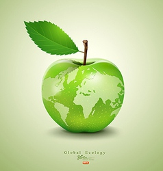 Green apple earth design vector image vector image