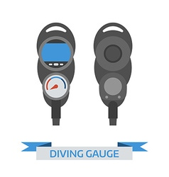 Scuba Diving Gauge Icon vector image vector image
