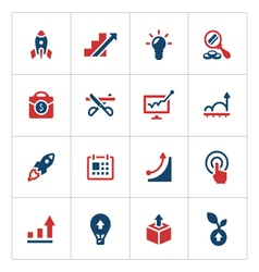 Set color icons of start-up vector image