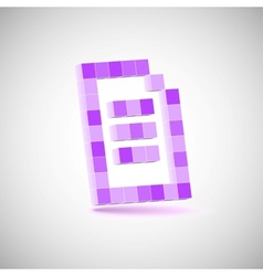 Three-dimensional Shape pixel style the paper vector image