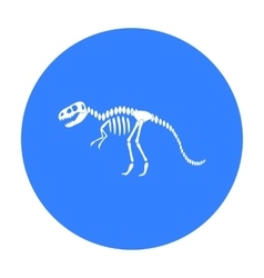 Tyrannosaurus rex icon in black style isolated on vector image vector image