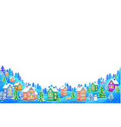 winter landscape composition on white background vector image